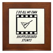 Shuffleboard Stunts Framed Tile