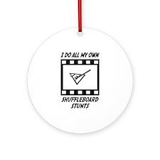Shuffleboard Stunts Ornament (Round)