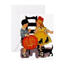 Halloween Party Kids Greeting Card