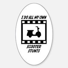 Scooter Stunts Oval Decal