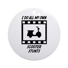 Scooter Stunts Ornament (Round)