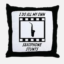 Saxophone Stunts Throw Pillow