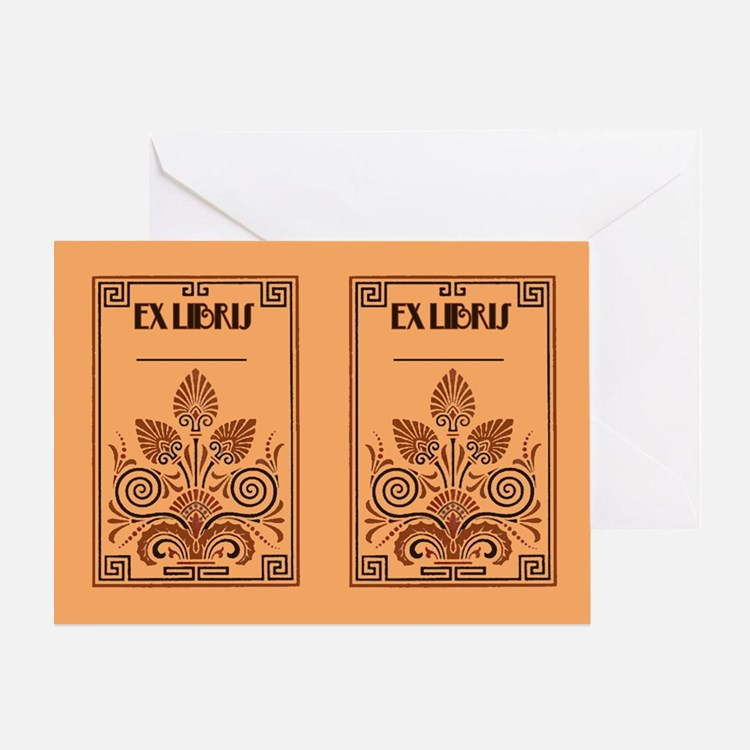Art Deco Book Plate Greeting Card