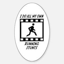 Running Stunts Oval Decal
