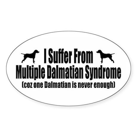 Dalmatian Sticker (Oval 50 pk)