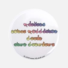 "Pastel PREVENT NOISE POLLUTION 3.5"" Button"
