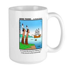 #4 Sunken land-bridge Large Mug