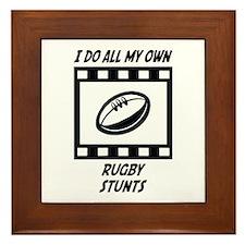 Rugby Stunts Framed Tile