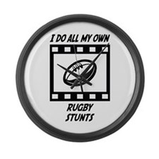 Rugby Stunts Large Wall Clock