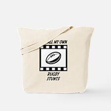 Rugby Stunts Tote Bag