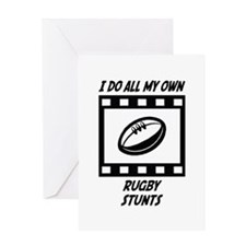 Rugby Stunts Greeting Card