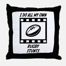 Rugby Stunts Throw Pillow