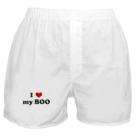 I Love my BOO Boxer Shorts