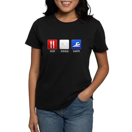 Eat Sleep Swim Women's Dark T-Shirt