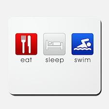 Eat Sleep Swim Mousepad