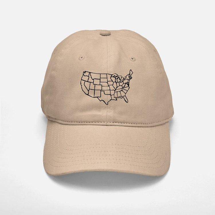united states map hats trucker baseball caps snapbacks