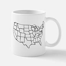 US Map Mug