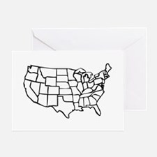 US Map Greeting Card