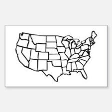 US Map Bumper Stickers