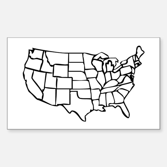 Us Map Bumper Stickers Car Stickers Decals More - Sticker us map