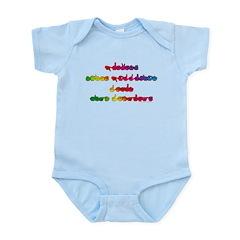 Rainbow PREVENT NOISE POLLUTION Infant Bodysuit