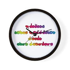 Rainbow PREVENT NOISE POLLUTION Wall Clock