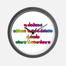 Rainbow PREVENT NOISE POLLUTION Wall Clock