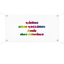 Rainbow PREVENT NOISE POLLUTION Banner