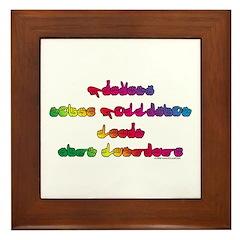 Rainbow PREVENT NOISE POLLUTION Framed Tile