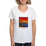 #8 Mess up family tree Women's V-Neck T-Shirt