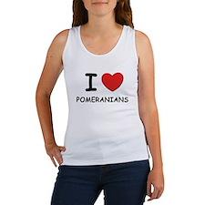 I love POMERANIANS Women's Tank Top