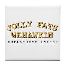 Jolly Fats Wehawkin Tile Coaster