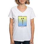 #12 Bearded son Women's V-Neck T-Shirt