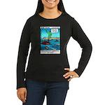 #14 Ellis Island Women's Long Sleeve Dark T-Shirt