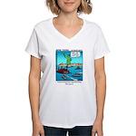 #14 Ellis Island Women's V-Neck T-Shirt