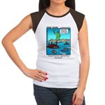 #14 Ellis Island Women's Cap Sleeve T-Shirt