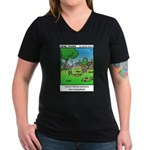 #15 Hid my ancestors Women's V-Neck Dark T-Shirt