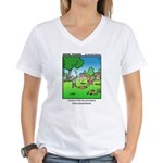 #15 Hid my ancestors Women's V-Neck T-Shirt