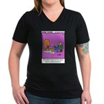 #24 Time machine Women's V-Neck Dark T-Shirt