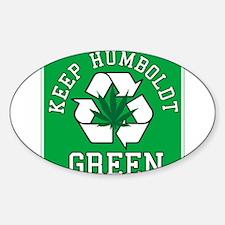 Keep Humboldt Green Oval Decal