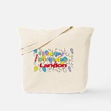 Happy Birthday Landon Tote Bag