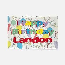 Happy Birthday Landon Rectangle Magnet