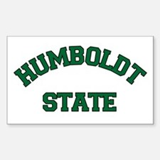 Humboldt State Rectangle Decal