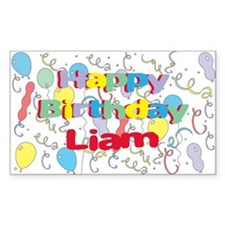 Happy Birthday Liam Rectangle Decal