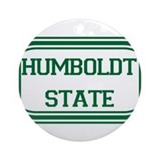 Humboldt State Rect Ornament (Round)