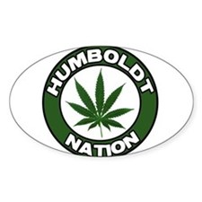 Humboldt Pot Nation Oval Decal