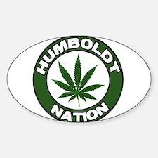 Humboldt Pot Nation Oval Decal
