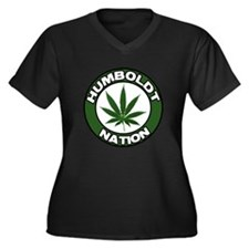 Humboldt Pot Nation Women's Plus Size V-Neck Dark