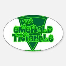 The Emerald Triangle Oval Decal