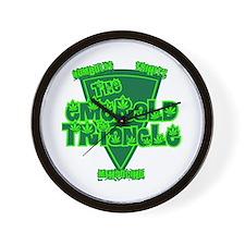 The Emerald Triangle Wall Clock
